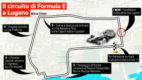 Il circuito di Formula E di Lugano (1)