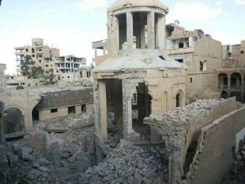 armenian-weekly-2014-syria-deir-ez-zor-saint-martyrs-church-destruction-140924