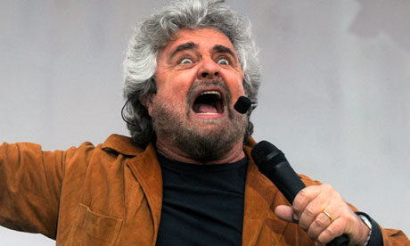 Beppe Grillo, leader of the Five Star Movement
