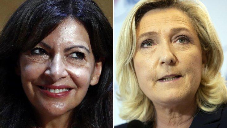 Anne Hidalgo e Marine Le Pen