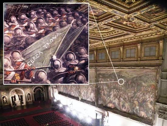 A palazzo vecchio a firenze si cerca la battaglia di for Battle of marciano mural